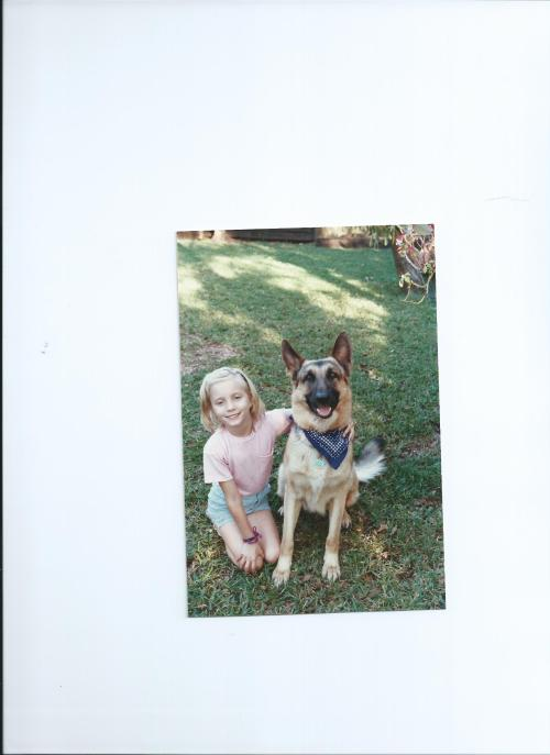 Me, age 7ish with Baron